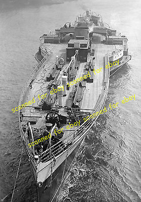 "Photo - ""Crested Eagle"" paddle steamer minus mast & funnel under tow, April 1937"