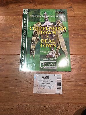 Chippenham Town V Deal Town, FA Vase Final, With ticket, 2000