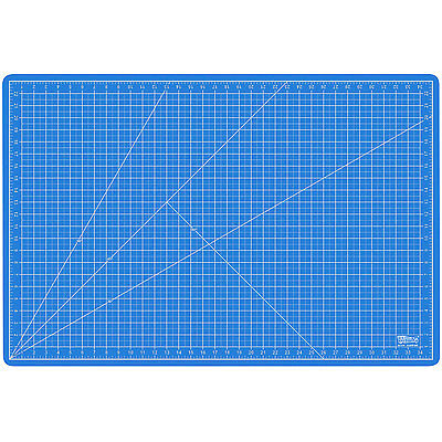 "24"" x 36"" PINK/BLUE Self Healing 5-Ply Double Sided Durable PVC Cutting Mat"