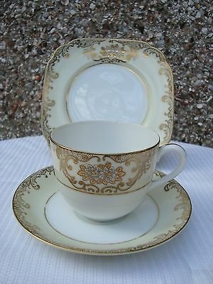 Vintage Meito oriental china 1 trio tea set made in Japan used