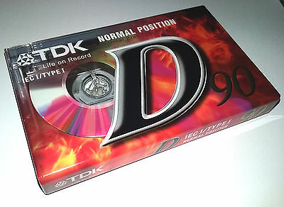 TDK D90 Tape Brand New and Sealed Normal Position High Energy Reliable Cassette