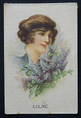 FLORAL BEAUTIES  Lilac  MY WEEKLY 1914 Silk Card