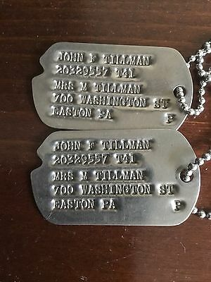 Original WWII US ARMY Dog Tags NOK 188th MP COMPANY Military Police ETO