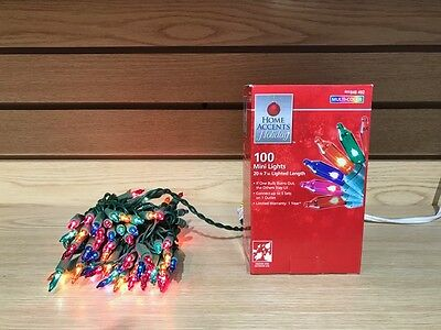 100 Mini Christmas Lights Clear or Multi Color Party Indoor ...