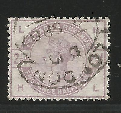 1883 21/2d lilacLondon hooded cds  fine used SG 190 position LH