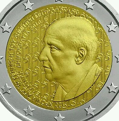 Greece 2 euro coin 2016 commemorative Mitropoulos new BUNC from roll