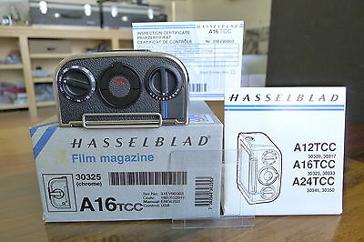 HASSELBLAD A16 TCC film back Chrome with matched insert mask late 203 205 503