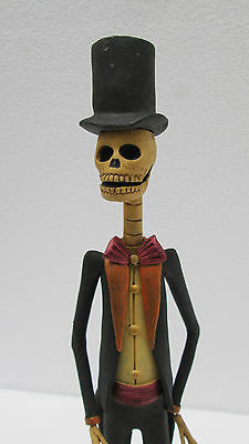 """MALE CATRINA groom guy in suit clay mexican folk art day of the dead 16"""" tall"""