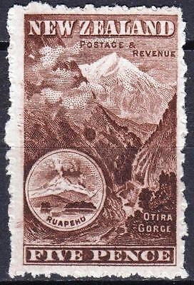 New Zealand 1902, SG 311a, 5d Red Brown, Perf 11, Mint Hinged, Cat £40