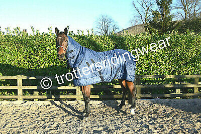 DUAL COMBO 150g fill under rug /lightweight stable rug ,horse, cob, pony-  Navy