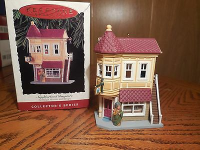 "1994 Hallmark Ornament- ""Neighborhood Drugstore""-- #11 in series"
