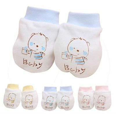 Boy Girl Baby Anti-grasping Gloves Cotton Anti Scratching Face Protection