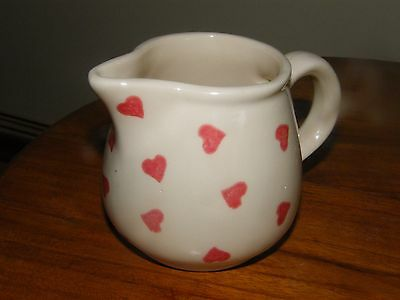 Chessell Pottery (Isle of Wight) Milk/Cream Jug with Heart Design