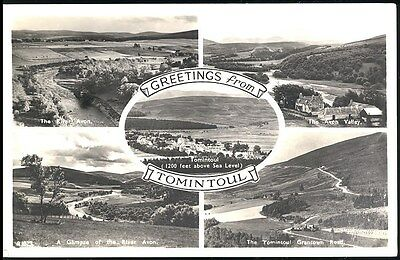 Postcard - Greetings From  Tomintoul Scotland Posted 1962 Stamped