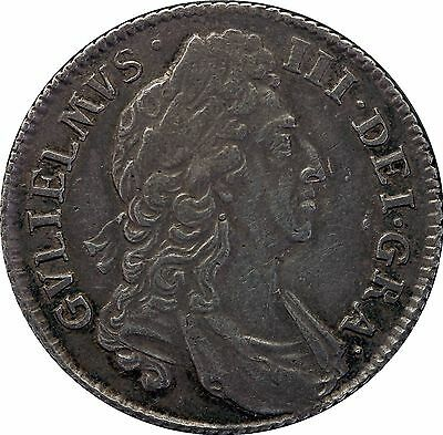 1696 William III one shilling coin first bust (c.1662-1816) spink 3497