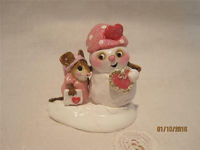 Wee Forest Folk Cool Friends - Pink Valentine - Retired in 2007 - WFF Box