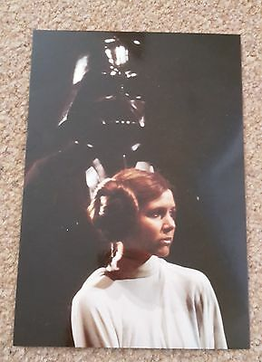 STAR WARS Princess Leia / Darth Vader Official POSTCARD (6x4 inches approx)