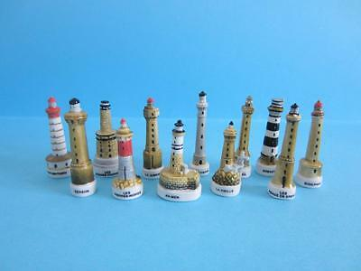 Amazing Miniature Lighthouses Collection Set, Rare To Find *mint*