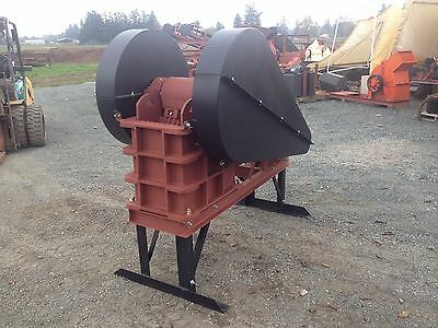 "Jaw Crusher 8"" x 12"" 10hp, for rock crushing, mining, concrete, asphalt, 2-6 TPH"