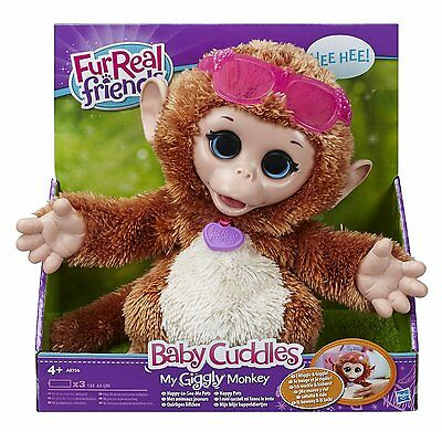 FurReal Friends My Giggly Monkey Baby Cuddles - Brand New