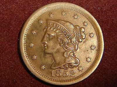 1852 Braided Hair Large Cent XF+