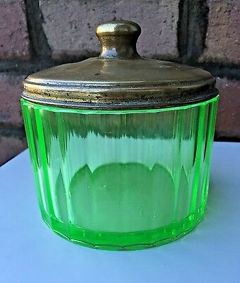 Antique Alfred Dunhill Of London Vaseline Glass Box Caddy Jar