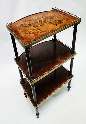 Antique French empire style table Mahogany wood with marqueterie