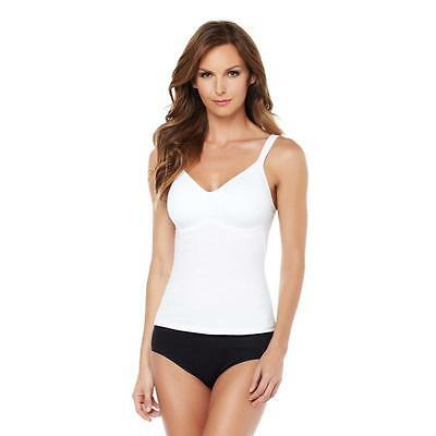 Rhonda Shear Cotton Blend Molded Cup Camisole in White, L
