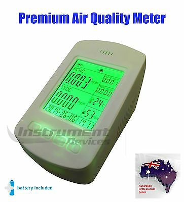 Pro Indoor Air Quality Meter PM2.5 PM10 Air Pollution Formaldehyde TVOC Detector