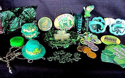 St. Patrick's Day Party In A Box -- Collection Of Vintage St. Patrick's Items