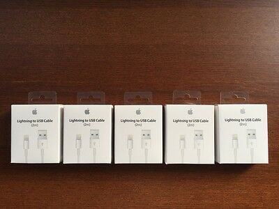 Genuine Apple Lightning Sync & Charger USB Data Cable For iPhone 7 6 5 iPad Air