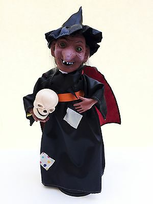 Vintage Halloween 16 inch Witch motionette animated figure - Telco Witch Time