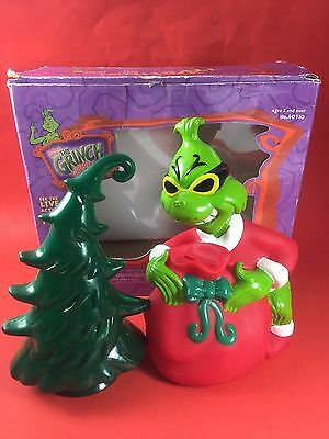 HTF RARE How The Grinch Stole Christmas Gumball Bank Motion Picture Dr Seuss