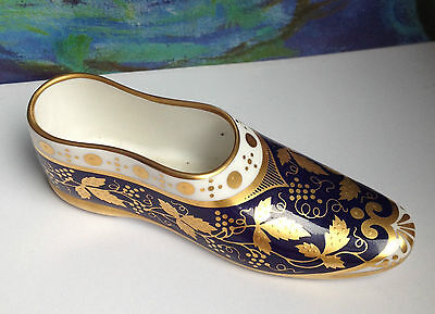 Spode Miniature Treasures Slipper Blue Gold EXC!