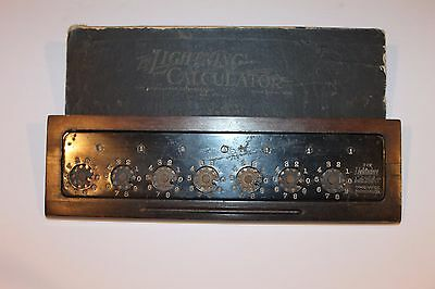 Vintage The Lightning Calculator With Case