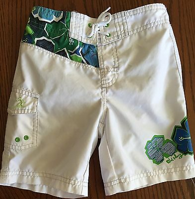 Baby boys size 2T Old Navy white, blue, & green swim swimming trunks shorts