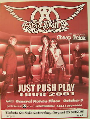 Aerosmith Concert Poster 2001 Just Push Play
