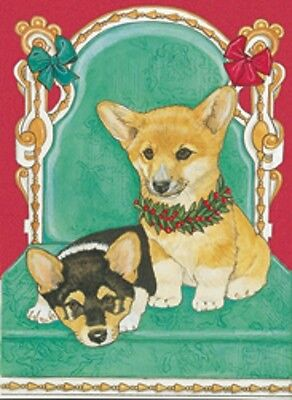 Welsh Corgi Holiday Cards by Pipsqueak Productions - 12 pack with envelopes
