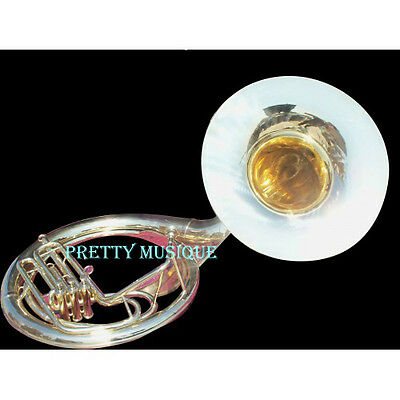 "Sousaphone Big 25"" Bell Of Pure Brass In Brass Polish + Case+Mouthpc (New Offer)"