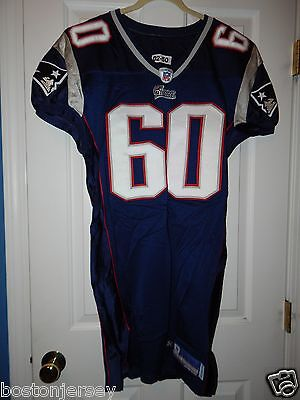 2002 New England Patriots Navy Blue Home Game Used Worn Issued Jersey SMITH