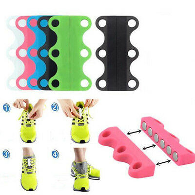 Novelty Sneaker Closure No-Tie Magnetic Casual Lazy Shoelace Shoe Buckles .|
