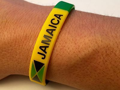Jamaican Flag Jamaica Rasta Silicone Wristbands 2 Pieces In Order Free Shipping