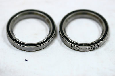 "1 1/8"" bike sealed headset bearings , pair.  Tange Seiki 4T5-5 precision 45 deg"