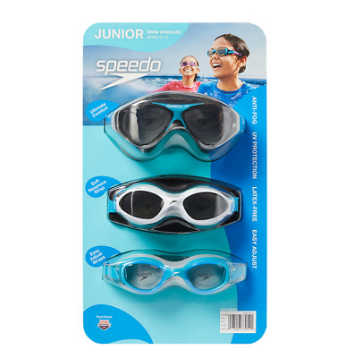 3x Speedo Junior Kids Swimming Goggles | UV Protection | Anti Fog | Speed