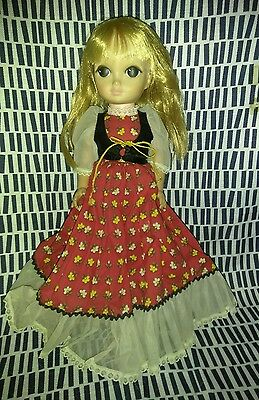 """Vintage Vogue Doll Love Me Linda 1965 Big Eyes  WITH DRESS SHOES OUTFIT 14"""""""