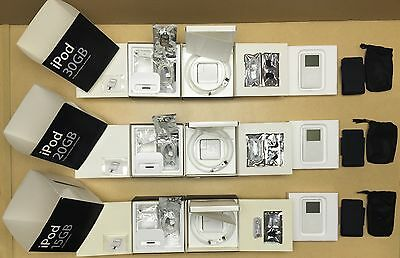 Set of 3 Working Apple iPod 15GB+20GB+30GB with box - Rare - From Apple Computer