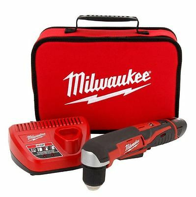 New Milwaukee M12 12 Volt Lithium Ion 3/8 in Cordless Right Angle Drill 2415-21