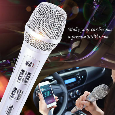 K9 Wireless Car Karaoke Microphone For iphone Android IOS Car KTV Outdoor Gold