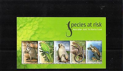 2009 Species At Risk Joint Issue With Territories Mini Sheet Mint Never Hinged