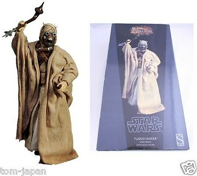 "NEW RARE Star Wars Sideshow Tusken Raider  12"" 1/6 Scale Figure from Japan F/S"